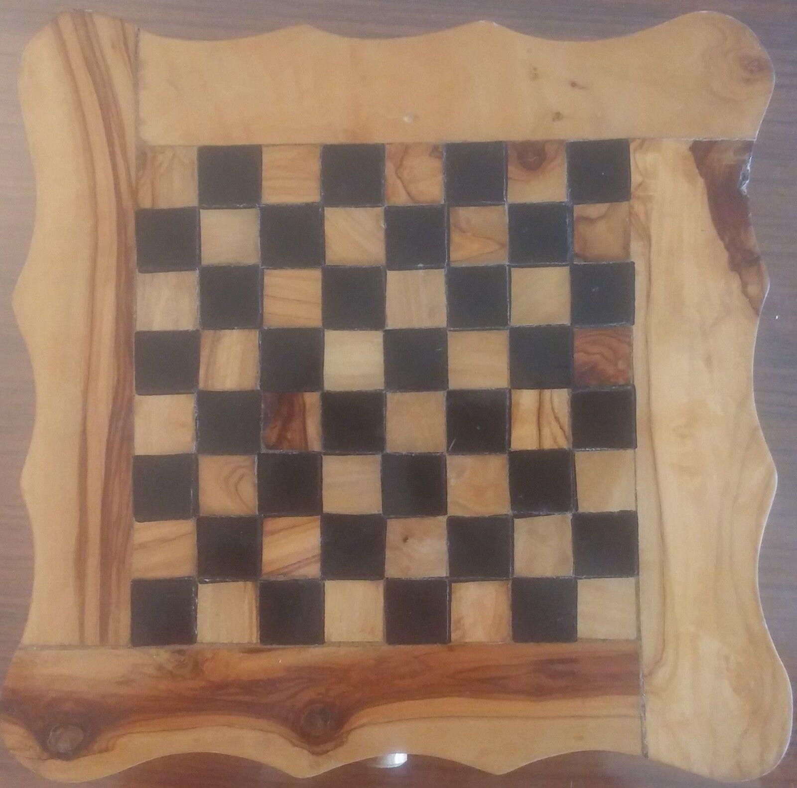 Jeu d'échecs en bois et pions en métal - Wood Chess - Metal Tokens - 26  26 - 2