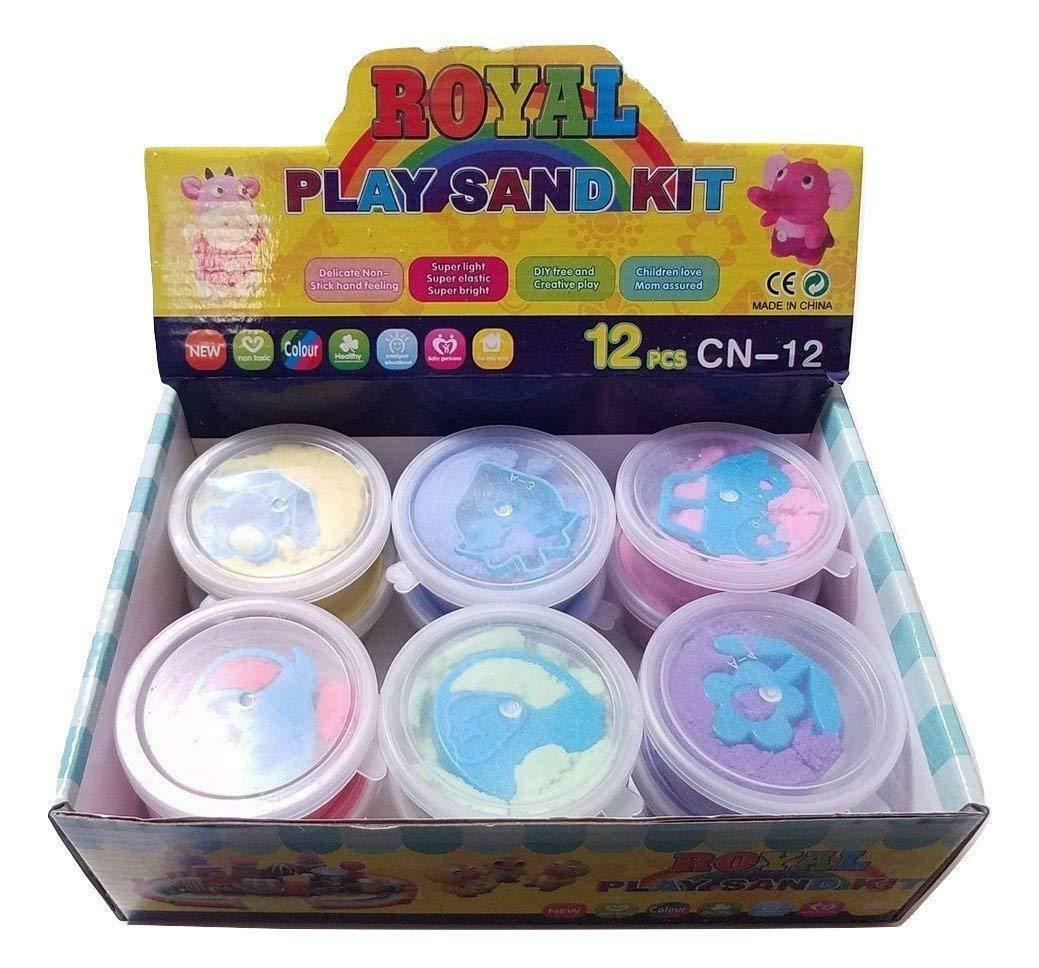 Box of 12 Small Space Moon play Sand