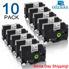 10pk Compatible Label Maker Tape 12mm For Brother P Touch Tz 231 Tze 231 Pt D210