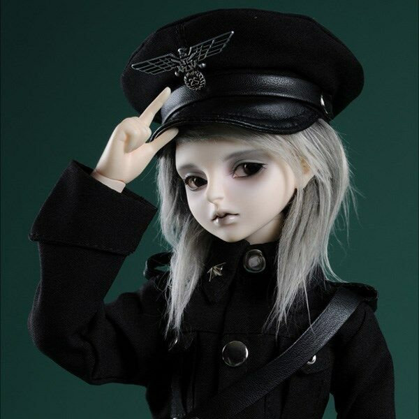 Dollmore BJD  Clothing & Accessories (7-8)inch Officer Hat (Type- Black C) cap