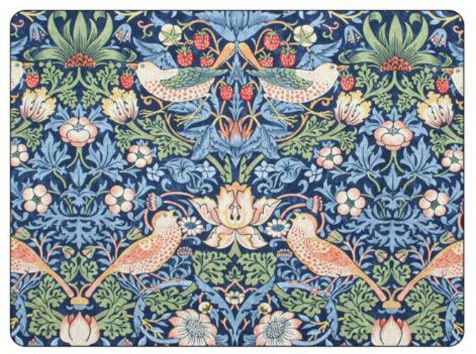 Pimpernel Morris & Co Fraises Voleur blue Set de Table Sets Ensemble 6