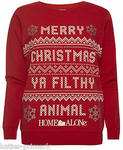 PRIMARK HOME ALONE MERRY CHRISTMAS YA FILTHY ANIMAL JUMPER SWEATER ...