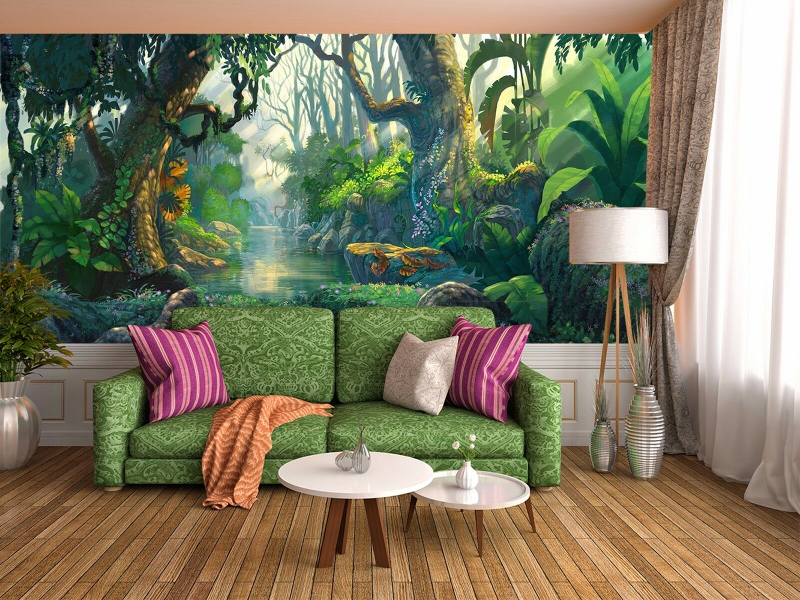 3D Grün woods 2534 Wall Paper Wall Print Decal Wall Deco Indoor Wall Murals