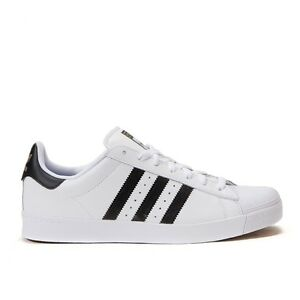 best service 36e61 ecb5e Image is loading Adidas-Superstar-Vulc-ADV-White-Black-Mens-Shoes-