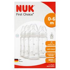 NUK Baby prima scelta Plus formula ainti-Colica Bottiglia tettarella in silicone 300ml 4 Pacco