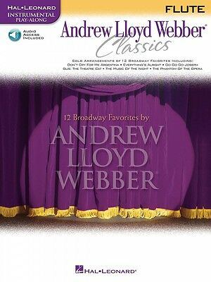 Responsible Andrew Lloyd Webber Classics Play-along Book And Online Audio Flute 000841824 Beneficial To The Sperm Instruction Books, Cds & Video