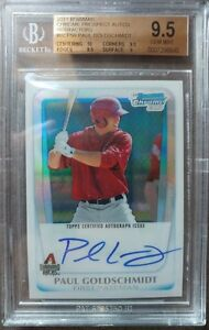 2011-Bowman-Chrome-Paul-Goldschmidt-Auto-Refractor-BGS-9-5-10-Gem-Mint-MVP-Year