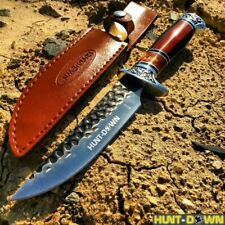 """NEW 12"""" COMBAT Hunt-Down Fixed Blade Knife with engraved Handle Hunting Survival"""