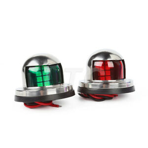 One-Pair-Stainless-Steel-LED-Bow-Navigation-Lights-12V-Marine-Yacht-Boat-Light