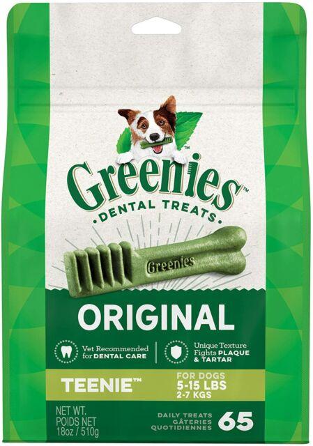 Greenies Original Teenie Natural Dental Dog Treats (5-15 lb. dogs)