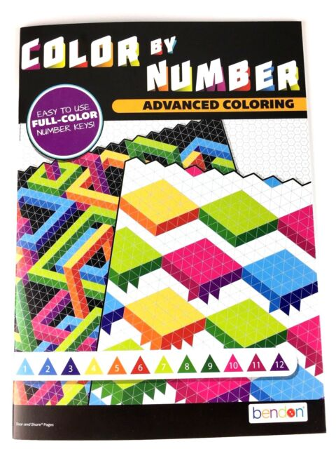 Advanced Coloring Color By Number Adult Book 2 Fun Relax Mind Challenge For  Sale Online EBay