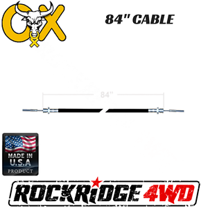 """84/"""" OX LOCKER CABLE ASSEMBLY W// JAMB NUT FOR JEEP 4X4 WRANGLER DIFFERENTIAL"""