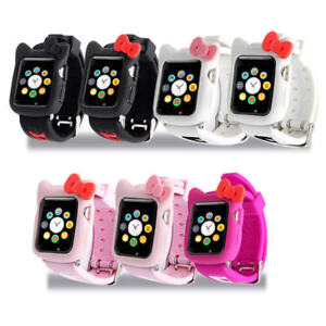fd7ff4a2c Hello kitty For Apple Watch iwatch Soft Silicone Series 4 3 2 1 Case ...