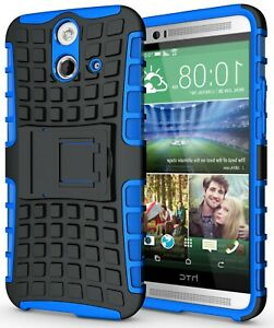 BLUE-GRENADE-GRIP-TPU-SKIN-HARD-CASE-COVER-STAND-FOR-HTC-ONE-E8-ACE-VOGUE