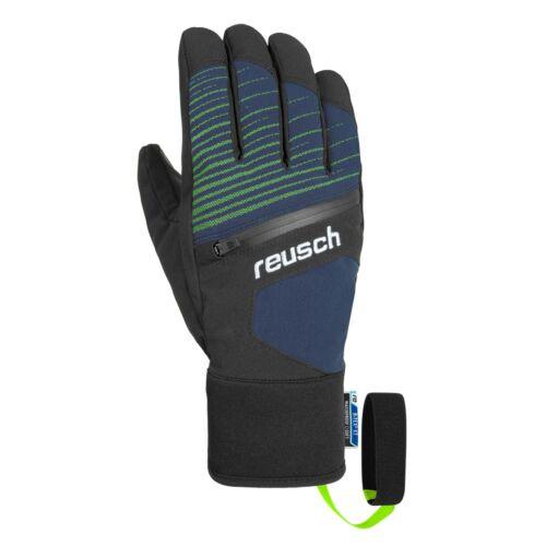Reusch Theo R-TEX XT Ski Snow Glove Dress Blue Neon Green X Large
