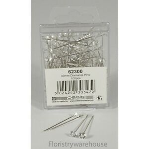 5mm acrylic head diamante diamond pins by Oasis (x100) 5053882003848