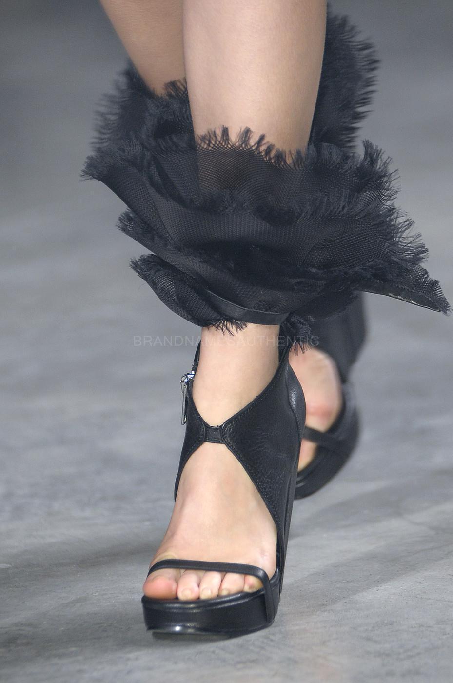 Rick Owens Runway Organza Wedge Sandals scarpe scarpe scarpe Dimensione 39,5  2425 fe4e64