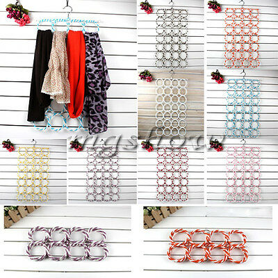 Multi-use 28 Ring Clothes Tie Belt Scarf Hanger Holder Rack Organise hanger Hook