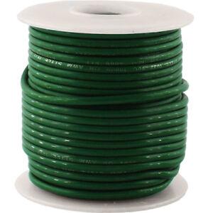 50' Foot 22 Gauge Stranded 600V Copper Wire, Green vintage amplifier projects