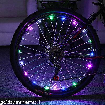 Bicyclette Cyclisme Coloré Cool 20 LEDs sécurité rayon roue léger vélo
