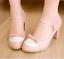 Women-Bowknot-Ankle-Strap-Heels-Retro-Mid-Chunky-Round-Toe-Mary-Jane-Shoe-Lolita thumbnail 3