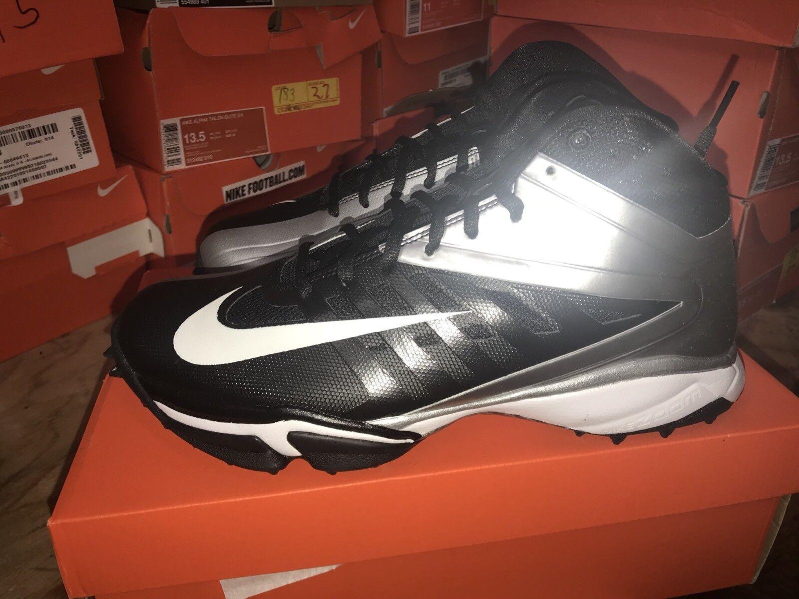 DS Nike Vapor Pro 3/4 Destroyer Mens Black Silver Training Shoes Size 9.5