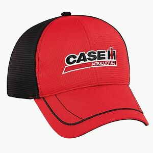 2a7ba4aa4e079 Image is loading Case-IH-Red-Black-Competition-Mesh-Men-039-