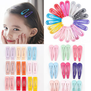 Lots-20pcs-Candy-Color-Snap-Hair-Clips-Hair-Clip-Pins-BB-Hairpin-Metal-Barrettes