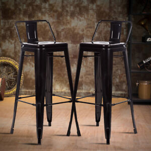 Cool Details About 30 Metal Frame Tolix Style Bar Stools Industrial Chair With Back Set Of 2 Pabps2019 Chair Design Images Pabps2019Com