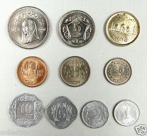 Pakistan-coins-set-of-10-pieces-AU-UNC