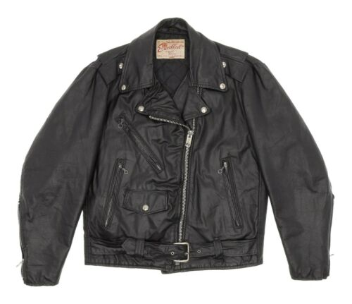 EXCELLED Leather Jacket M Medium Womens Black Exce