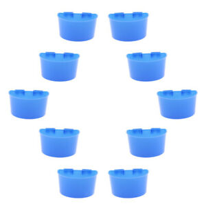 10 Pcs Poultry Pigeon Feeder Cups Drinker Bowls Plastic Food Water L/S Size