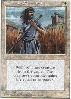 Mtg 1x Swords to Plowshares FBB//Foreign Black Bordered french hp