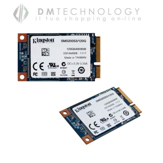 "HARD DISK SSD INTERNO 120GB MSATA 1,8"" KINGSTON SMS200S3/120G A STATO SOLIDO"