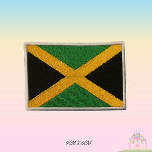 Jamaica-National-Flag-Embroidered-Iron-On-Patch-Sew-On-Badge-Applique