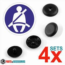 4x Universal Seat Belt Buckle Buttons Holders Studs Retainer Stopper Pin Clip