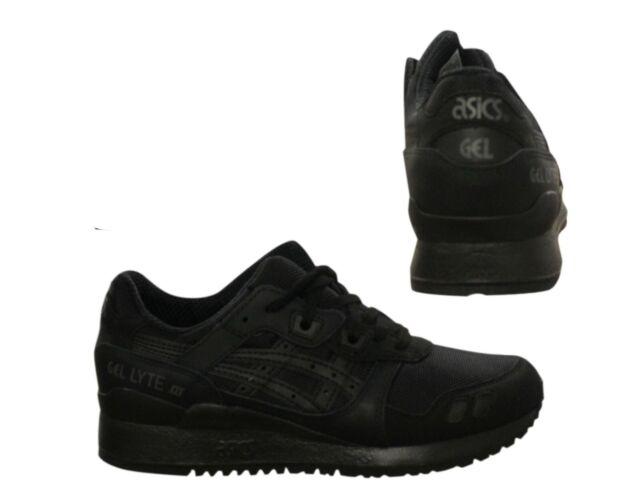 mens black asics trainers