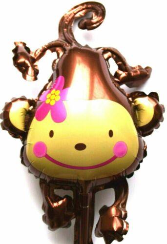 Baby Mädchen Affe Blumen Geschenk Folienballon Hochzeit Kein Helium Ballon