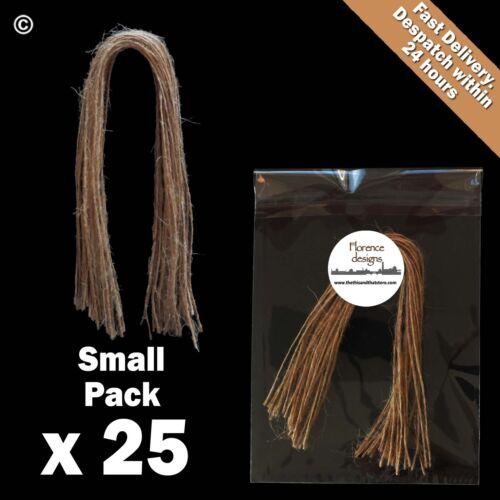 Ficelle Cadeau crafts hang tags Hesse Pour Mariage 25 x 1-ply naturel chaîne rustique
