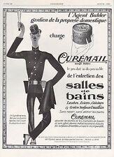PUBLICITE  CUREMAIL SALLE DE BAIN MATRAQUE DE GENDARME UNIFORME KEPI AD1929 -1H