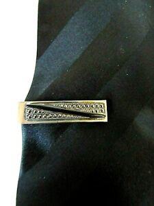 Vintage-Marcasite-Black-Onyx-Art-Deco-Tie-Bar-Clip-1-1-4-034