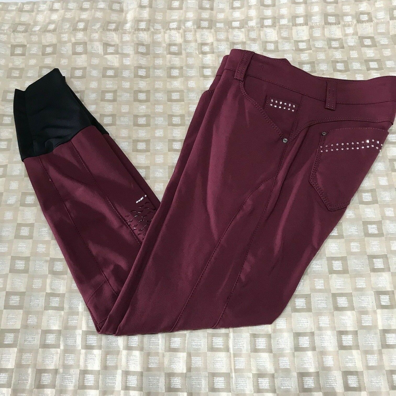Animo Nabso Full Grip Breeches in Burgandy