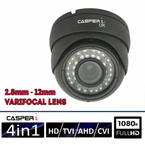 CASPERi 2.0//4.0MP DOME CCTV CAMERAS AHD TVI CVI ANALOGUE 30M Night IR 3.6mm Lens
