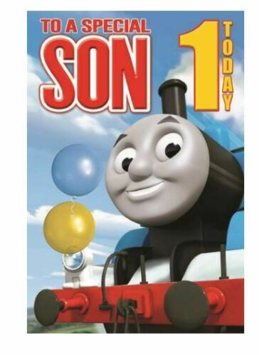 THOMAS AND FRIENDS Happy Birthday Cards Greetings or Gift Wrap Son Brother Ages