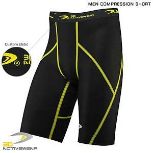 Mens-Top-Compression-Shorts-Sports-Briefs-skin-tight-fit-gym-Runing-Base-layers