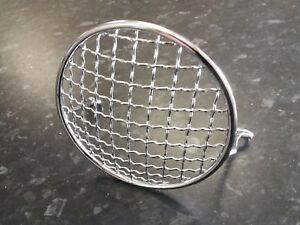 Vespa-V50-V90-V100-Chromed-Headlight-Headlamp-Grille-NEW