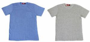 NEW-Men-039-s-Plain-Basic-T-SHIRT-Tee-Top-with-Pocket-Size-Slim-Fit-S-M-L-XL-XXL-St
