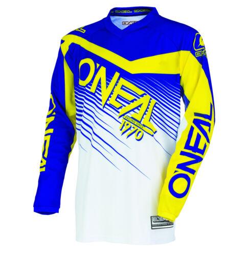 O/'Neal 2018 Element Racewear Jersey Dirt Bk Blue//Yellow Off-Road Motocross
