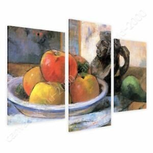 Still-Life-by-Paul-Gauguin-Ready-to-hang-canvas-3-Panels-Wall-art-paint-HD