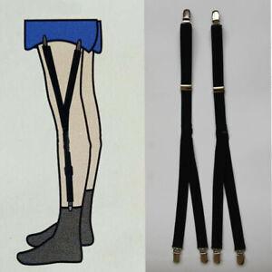 Adjustable-Non-Slip-Shirt-Stays-Holder-Suspender-Elastic-Garter-Strap-Home-Tool